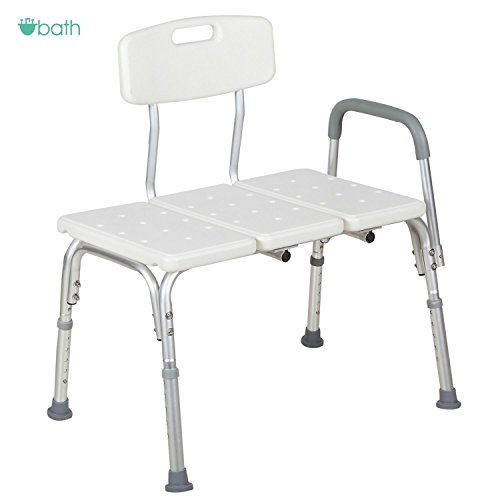 good Medical Shower Chair 10 Height Adjustable Bath Tub Bench Stool Seat Back and Arm