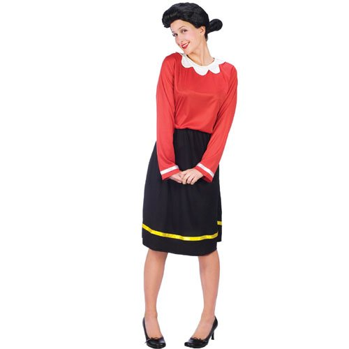 Olive Oyl Costume - Medium/Large - Dress Size 10-14