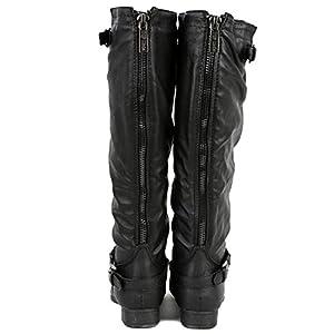 Top Moda Women's COCO 1 Knee High Riding Boot, Premium Black Pu 7
