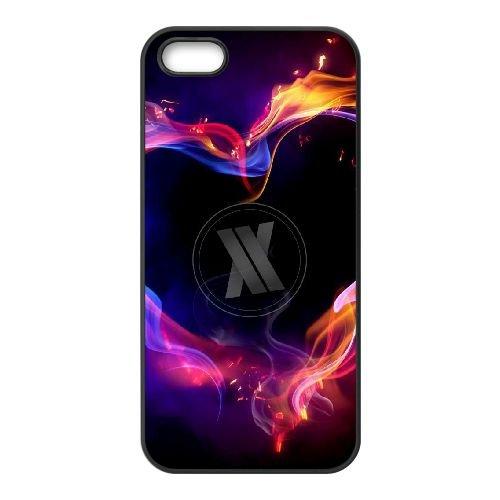 Blasterjaxx 002 coque iPhone 5 5S cellulaire cas coque de téléphone cas téléphone cellulaire noir couvercle EOKXLLNCD22264