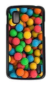 Google Nexus 4 Case,MOKSHOP Awesome colored candies Hard Case Protective Shell Cell Phone Cover For Google Nexus 4 - PC Black