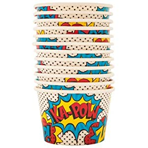 Superhero Snack Cups Birthday Party Supplies 12 Count
