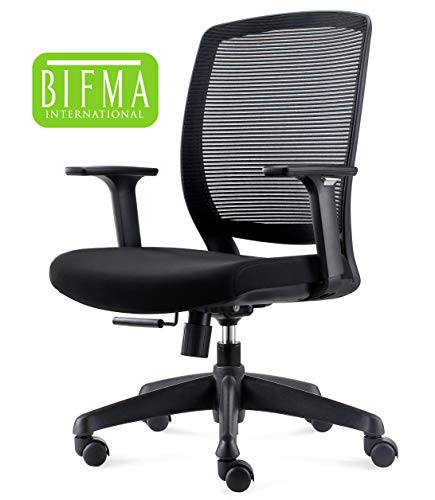 (Chairlin Ergonomic Office Chair Mesh Task Chair Mid Back Desk Chair with Lumbar Support Black)
