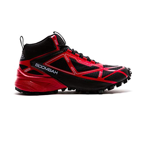 Boombah Men's Hellcat Mid Trail Shoes Black/Red - Size 12