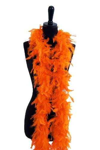 WGI 6' 60g Adult Feather Boa, Orange -
