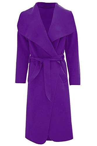 Waterfall Italian Duster Ladies PURPLE 16 COAT Online ITALIAN French Adult Belted Jacket 8 Coat MA Trench Long tXqgvfnw