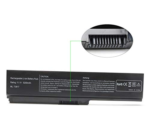 Laptop Battery Replacement for Toshiba Satellite PA3817U-1BRS PA3818U-1BRS PA3819U-1BRS C655 L655 L755 P755 A600 L775 L775D P740 P740D P745 P745D P750 P750D P755D P770 P770D P775 P775D Series (Toshiba Battery For Laptop)