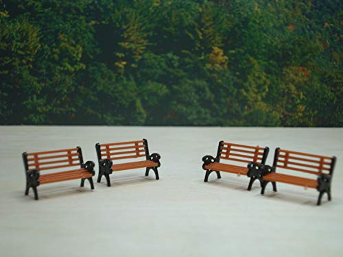HO Scale Set of 4 Park Benches Layyout Ready Item 5408