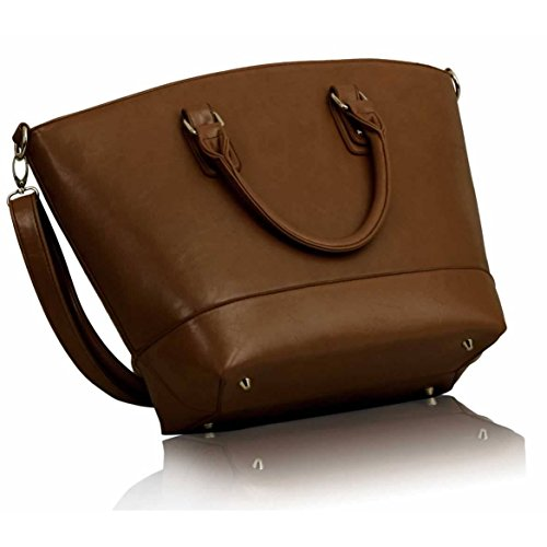 Fashion Only UK, Borsa tote donna marrone brown