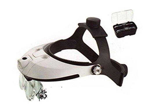 HAWK OPTICALS LED Illuminated PVC Head Magnifier With 5 Interchangable Lenses: MG-15151 (Pvc Head)