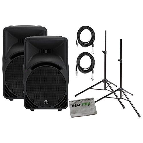 High Definition Powered Loudspeaker - Pair of Mackie SRM450v3 1000W High-Definition Portable Powered Loudspeakers w/C
