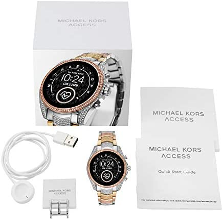 Michael Kors Access Gen 5 Bradshaw Smartwatch, Powered with Wear OS via Google with Speaker, Heart Rate, GPS, NFC, and Smartphone Notifications