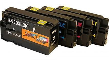 4 Cartuchos de limpieza con chip HP 950 X L HP 951 X L ...