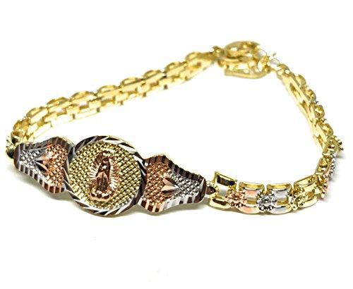 (Fran & Co. Virgin Mary Bracelet Virgen De Guadalupe Pulsera Tres Colores Oro Laminado 8
