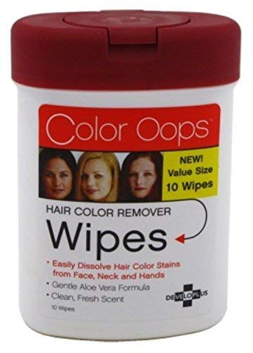 Developlus Color Oops Hair Color Remover Wipes 10'S by Developlus