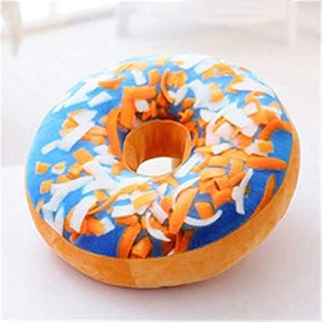 1Pcs Xmas 40cm Sofa Decorative Cute Simulation Cushion Soft Plush Pillow Without Stuffed Seat Pad Donut Foods Cushion Case Toys,A