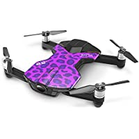 Global Drone S6 Foldable Selfie Quadcopter Pocket Drone 4K 1080P UHD Camera 2.4GHz WIFI Real Time FPV Auto Hovering, Take-off, Landing (Purple)