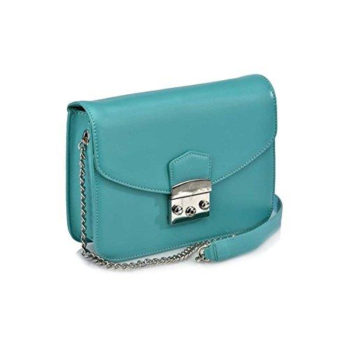 Guy Laroche Shoulder Bag With Light Green Large Lapel 11570
