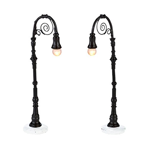 Indoor Lamp Post (Department 56 Snow Village Kensington Lane Lamp Posts Lighted 2-Pc Accessory Set)