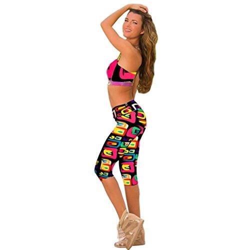 Fulltime® Femmes Yoga Sport Super Doux Spandex Modal Pantalons étirer Cropped
