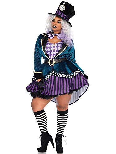 Womens Plus Size Mad Hatter Wonderland Halloween Costume- Complete Set with Accessories -