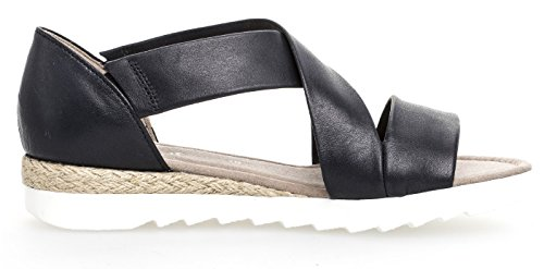 711 82 Navy Casual Gabor Sandals Womens Toe Open 5vRnxWA1