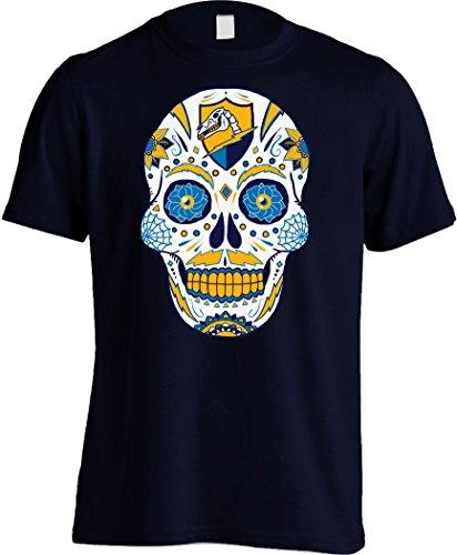 America's Finest Apparel Los Angeles Football LAC Sugar Skull Shirt - Men's (2XL, Navy)