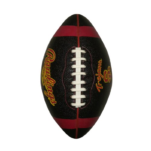 NCAA SOUTHERN CALIFORNIA TROJANS Team Logo Pro Quality Rubber Football (11 inches) - - Outlets Washington Shopping