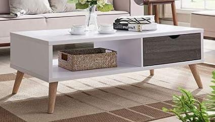 Fine Amazon Com Cofee Table White And Distressed Grey Wood Machost Co Dining Chair Design Ideas Machostcouk
