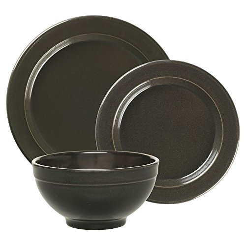 Emile Henry Made In France Charcoal 3pc Dinnerware Set. Set