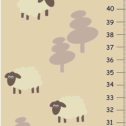 Amazon Sweet Lamb Girls Growth Chart Nursery Wall Decor For