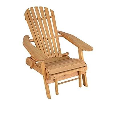 Al aire libre durable de madera plegable silla de playa con ...