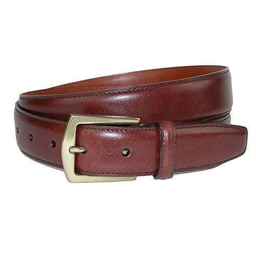CrookhornDavis Dress Belt for Men, Calfskin Leather Accessories - (Ciga Smooth), 36, Whiskey (Calfskin Belt)