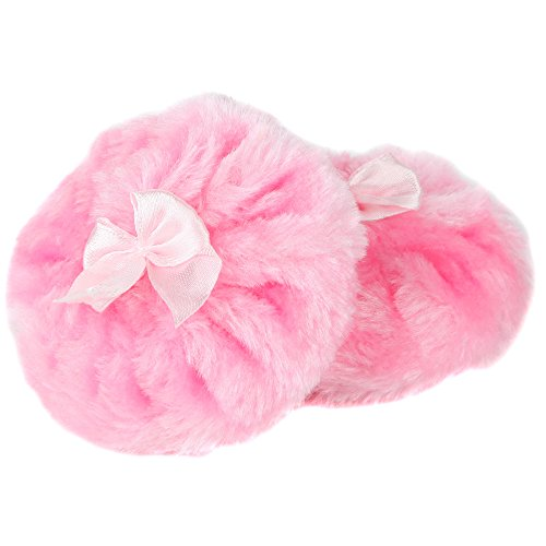 Home-X Soft Fluffy 3.5 Inch Powder Puff. Set of 2. Pink