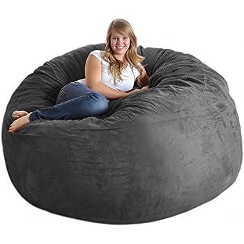 Amazon Com Slacker Sack 6rcharcoal Foam Beanbag Chair 6
