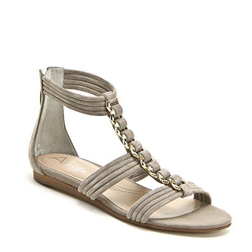ALESYA by Scarpe&Scarpe - Sandalias bajas con accesorio dorado, de Piel Beige