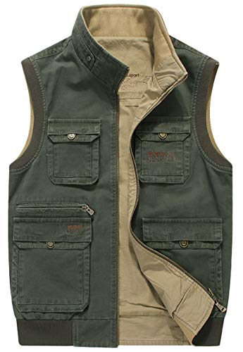 United Fishing Vest Multi Pockets Jacket Outdoor Sports Quick Dry Reflective Strip Safety Breathable Mesh Ultralight Tactical Grey Men Fashionable Patterns Fishing Fishing Apparel