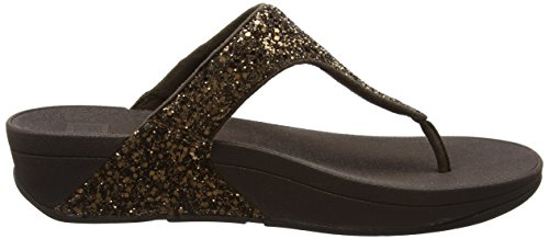 Fitflop Glitterball Slide - Sandalias con tacón Mujer Bronze