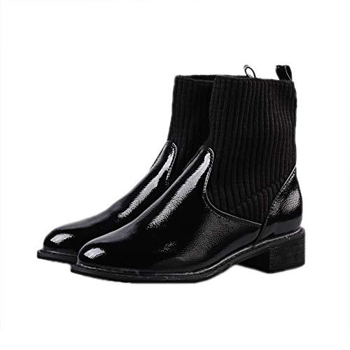 36 Punto Mujer Calzado Calcetines De Botines Eu Ymfie Puños Con Suave Invierno Para Chelsea 38 wZ6RTqSt