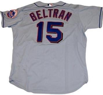 Amazon Com Carlos Beltran Authentic Mets Road Grey Jersey