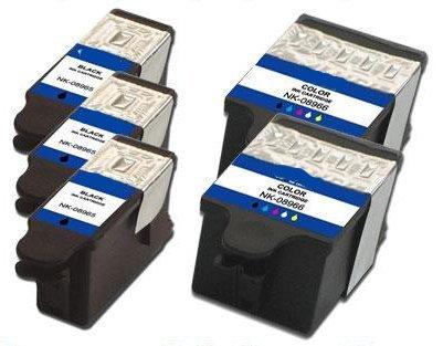Generic  Compatible Kodak #30XL Bulk Set of 5 Ink Cartridges: 3 Black & 2 Color For Hero 3.1, 5.1 ESP C310 C315 2150 2170