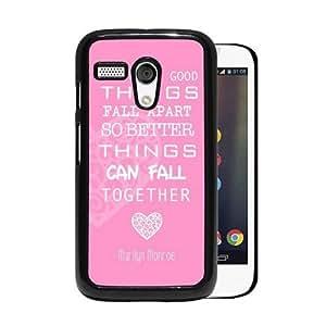 RCGrafix Brand Marilyn Monroe Quote Love Pink Motorola Moto G Cell Phone Protective Cover Case - Fits Motorola Moto G wangjiang maoyi
