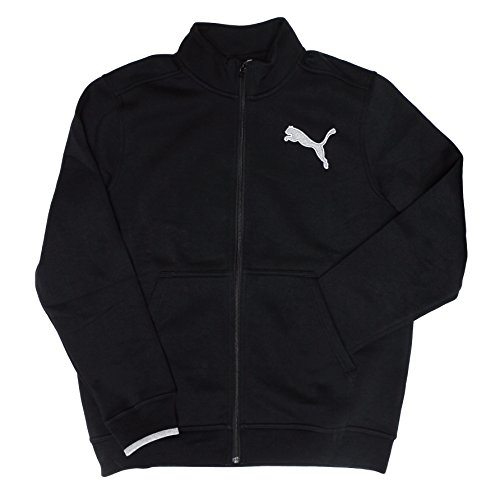 Puma Warm Cell Thermal Insulation Mens Fleece Track Jacket Black Gray Heather X-Large