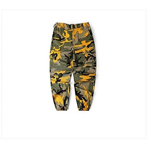 Discount Frozac New Camuflaje Pantalones Cargo Hombres Militar Hip Hop Pantalones Casual Baggy Pants Yellow XL for sale