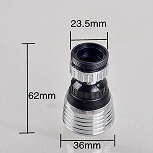 360回転節水 蛇口コネクター バスルームキッチン水栓 アクセサリー ノズルフィルターをタップ
