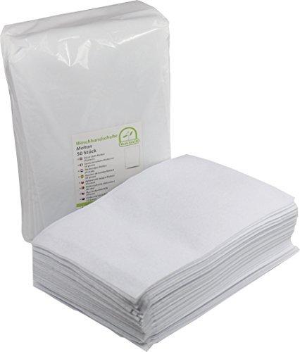 Medi-Inn, une fois à laver Gants de Toilette à usage unique en molleton, Lot de 50