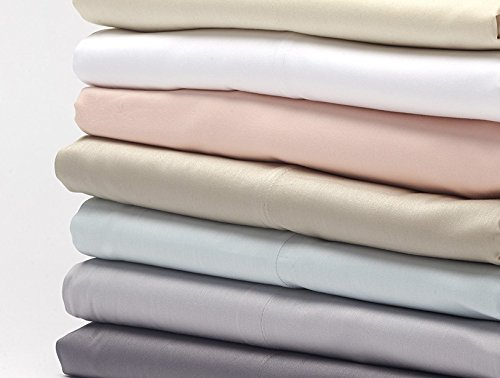Coyuchi Sateen Fitted Organic Sheets - Alpine White Queen