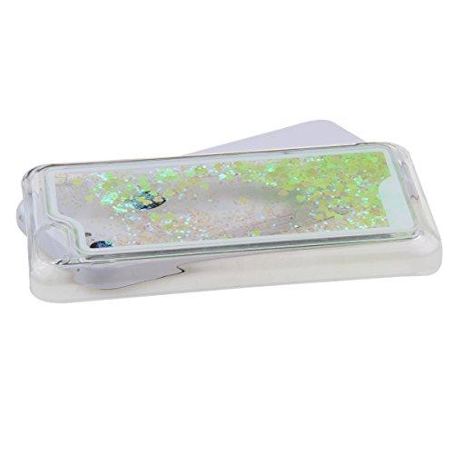 Schutzhülle für iPhone 5c, Nsstar® Gelb Hard Plastic Handyhülle Transparent Clear Cystal Case Glitter Flowing Bling Sterns und Sparkles Shinny Attraktiv Hart Hülle Etui Schale für iPhone 5c