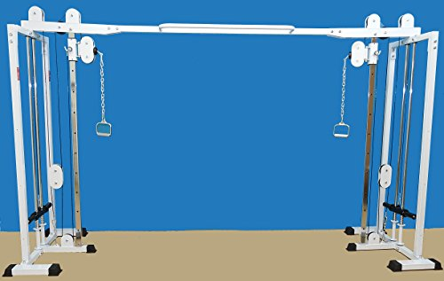 "Mega Cross Over Gym 84"" high, 11 Adjustable Swinging Front Pulley Mount Great High Pulls, Pulldowns, Tricep Pushdowns, Crossovers, Rear Deltoid Pulls, Upright Rows, Seated Rows, Bicep Curls & More"