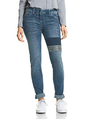 Used Blue Straight Jeans 10320 Mehrfarbig Cecil mid Donna Wash OBYX1q